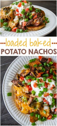 These delicious Loaded Steak Potato Nachos are a quick meal solution that can feed a crowd in a pinch.