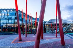 Dublin Docklands: The landscape architects at Martha Schwartz Partners designed the square to be the main attraction of the newly renovated Dublin riverfront
