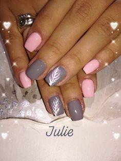 Classy Nails, Fancy Nails, Love Nails, Pink Nails, Pretty Nails, Feather Nail Designs, Feather Nails, Cute Nail Art Designs, Fingernail Designs