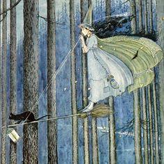"""A Polar Bear's Tale: Ida Rentoul Outhwaite (1888-1960)    """"Out for a stroll."""""""