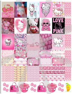 Hello Kitty™ Pink planner stickers that are made to print out onto one 8 1/2X11 sticker paper, cut to size for your personal Mambi Happy Planner™/Erin Condren™ & Plum™ sized and type planners. Add to your cart now and just check out. You will not be charged for this download! In printable HQ PDF format (image poor quality for visual only). Water marks removed during print. Created by Staff Artist Angel Koch. See terms and Use. Mambi Happy Planner™/Erin Condren™, & Plum™, HelloK...