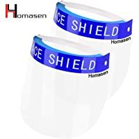 All-Round Protection Cap with Clear Wide Visor Spitting Anti-Fog Lens Lightweight Transparent Shield with Adjustable Elastic Band for Men Women 2 Pack