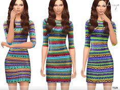 ekinege's Multicolor Knit Dress