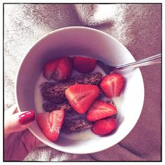 Starting the #weekend off right... Have a good one beauties! #breakfast #strawberries #saturday #food #foodie #health #nutrition #diet #bbloggers #instapic #instagood #instamood #instadaily #instalike #picoftheday #iphoneonly #love