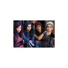"""First Look Dove Cameron Cameron Boyce Get Villainous in """"Descendants"""" ❤ liked on Polyvore featuring disney"""