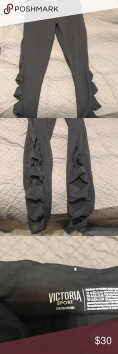 Victoria Secret workout leggings opened on the side Victoria's Secret Pants Leggings