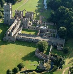 The fictional Thornbury Abbey appears in the novel, based on the many abbeys that existed in medieval England. This is Fountains Abbey in Yorkshire, England, which operated from 1132 until the Dissolution of the Monasteries in