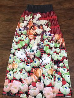 Anthropologie DREAM DAILY Maxi Skirt Size Large Blanched Crocus Tropical Floral    eBay