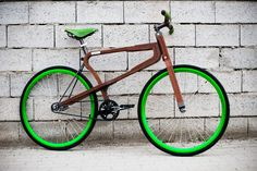 matteo zugnoni's wooden woobi bike present at 2015 milan design week