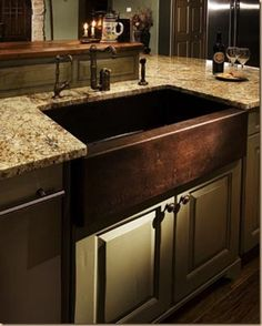 oil rubbed bronze farm house sink