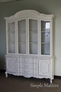 White French Style China Hutch