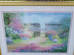 Vintage Garden Painting by TrueColorsBoutique on Etsy, $85.00
