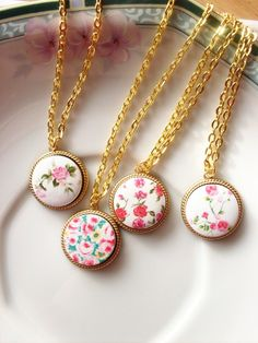 Floral Charm Necklace