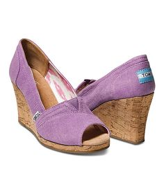 Look what I found on #zulily! Orchid Hemp Wedge - Women by TOMS #zulilyfinds