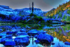 Scenery USA Stones Washington HDR Nature