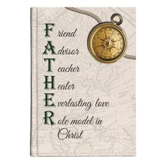 This journal comes with a traditional old world map design and strong sentiment that truly defines the word Father. Includes 60 sheets of lined paper, a full-color hard back cover, and is perfectly priced for gifts and give-aways during Father's Day.