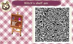 Witch's shelf (4 versions) - Animal Crossing New Leaf QR Codes