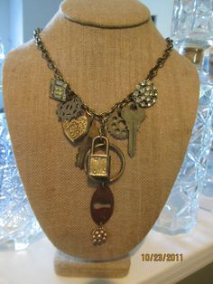 Vintage Charm Necklace by ConfettiStyleDesigns on Etsy, $48.00