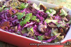 Salada de Agrião com Repolho » Receitas Saudáveis, Saladas » Guloso e Saudável