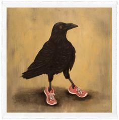 """Raven Runner by Trace Yeomans, limited edition #/20, 12"""" x 12"""" (image size)…"""