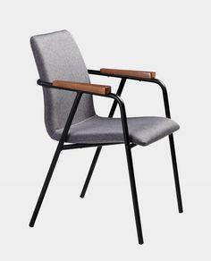 Produktbild Designer Stuhl Aron, Stofffarbe Grau, Beine Aus Metall,  DailyHOME Möbel Für Esszimmer