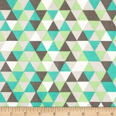 Riley Blake The Cottage Garden Triangles Grey from @fabricdotcom  Designed by The Quilted Fish for Riley Blake, this cotton print is perfect for quilting, apparel and home decor accents.  Colors include white, spring green, teal and shades of grey.