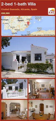 2-bed 1-bath Villa in Ciudad Quesada, Alicante, Spain ►€89,995 #PropertyForSaleInSpain