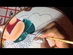 Pintura en tela niña margarita # 4  con cony