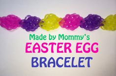 Easter Egg Bracelet on the Rainbow Loom