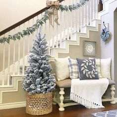 Christmas and Interior Decorating Ideas moulding on stairs
