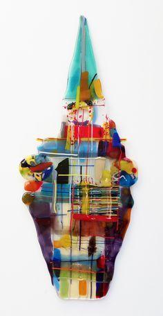 bigbird 2017 Glasfusion 55 x 23 cm