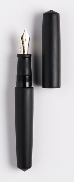 NAKAYA FOUNTAIN PEN - Black hairline, piccolo #Nakaya #FountainPens