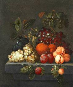 J. Bourjinon  Still Life with Fruit  17th century