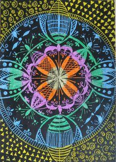Pastel kazima, simetri
