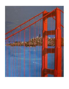 SAN FRANCISCO When the Fog is Gone Blue Red by ArtCalifornia, $70.00