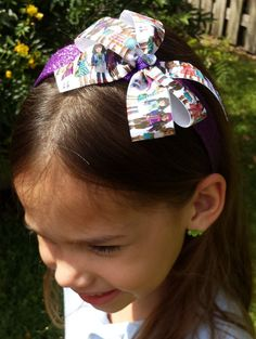 Hey, I found this really awesome Etsy listing at https://www.etsy.com/listing/229252489/american-girl-glitter-headband-or-bow