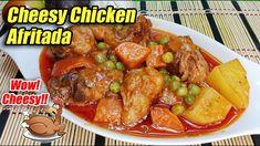 GAWING CHEESY ANG CHICKEN AFRITADA AT SIGURADONG TAOB ISANG KALDERONG KA... Chicken Legs, Cheesy Chicken, Carrots, Breakfast Recipes, Cooking Recipes, Beef, Foods, Dishes, Ethnic Recipes