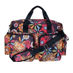 Form meets ultimate function and space with the Deluxe Duffle Diaper Bag by Trend Lab. The Deluxe Duffle is spacious enough for parents with multiple children and features several organizational pocke