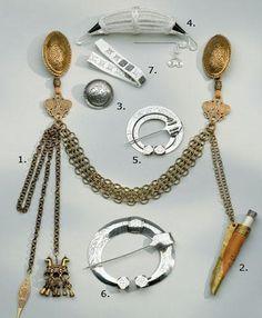 Jewelry replicas for the Karjalan dress by Kalevala Koru, Finland.