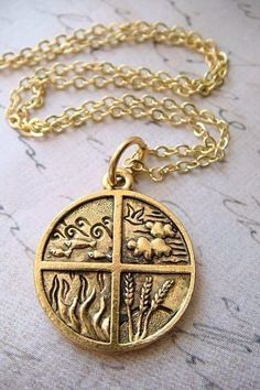 Gold Plated Charm by Earth Air Fire Water, Earth Wind & Fire, Pagan Jewelry, Unique Jewelry, 4 Elements, Tatoo Art, Tattoo, Elemental Powers, Jewelry Crafts