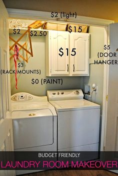 DIY $45,00 Beautiful Laundry Room Makeover !