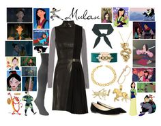 """""""Mulan"""" by pie-epic ❤ liked on Polyvore featuring Disney, Muk Luks, Jimmy Choo, Thierry Mugler, Balmain, Chloé, Effy Jewelry, Fremada, Kevin Jewelers and Bee Goddess"""
