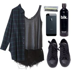 blk water. by baludna on Polyvore. I think I'd change the shoes but I adore the look
