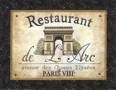Restaurant de l'Arc by Daphne Brissonnet art print