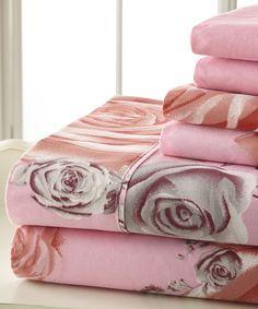 Pink & Gray Palazzo Home Luxurious Sheet Set