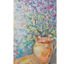 Original Still Life Oil Painting Fine Art Bouquet Flowers Meadow Lilac Textured Art Palette Knife Home Decor Canvas Russian Modern Painter by FrozenLife on Etsy