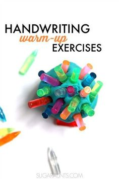 Handwriting Warm Up Activities for Kids   For kids, In south ...