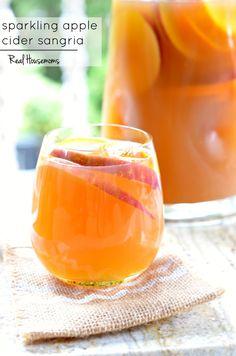 sparkling Apple Cider Sangria | Real Housemoms