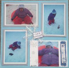 Let it Snow!! layout - Scrapbook.com