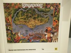 The following poster was a spin-off for the market of design work. The poster brings everything together that makes up Singapore. The cultural variation is signified by the design and colours. Its then famous attractions- Jurong Bird Park,Singapore Zoological Gardens and Pulau Blakang Mati resort (now Sentosa) in 1970's not only shaped the environmental landscape nut is also identified as Singapore's Design. Contrast in Colours has been identified.
